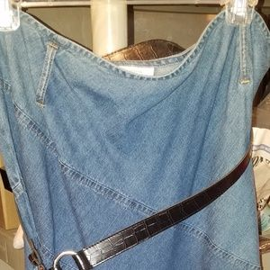 JM Collection denim skirt size 14
